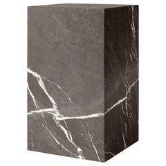 Plinth, Tall, Grey Marble