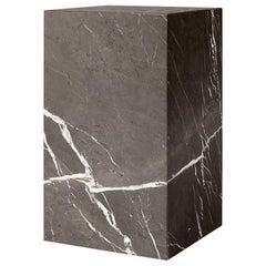 Plinth, Tall, Grey Marble