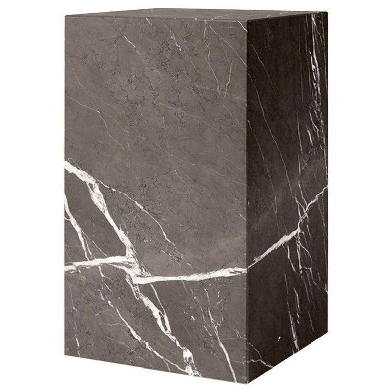 Plinth, Tall, Grey Marble For Sale
