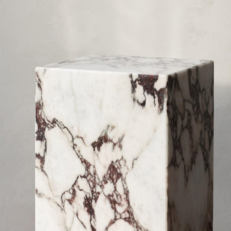 Plinth, Tall, Rose Marble For Sale 3