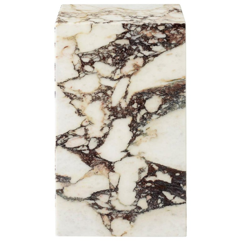 Plinth, Tall, Rose Marble For Sale