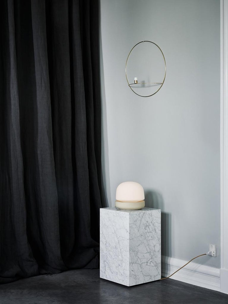 Portuguese Plinth, Tall, White Marble For Sale