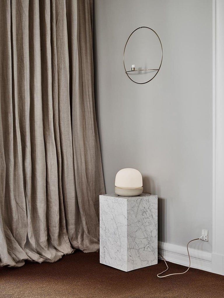 Contemporary Plinth, Tall, White Marble For Sale