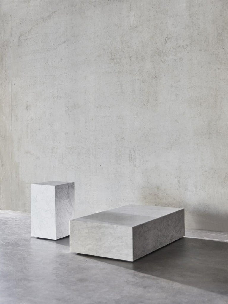 Plinth, Tall, White Marble For Sale 2