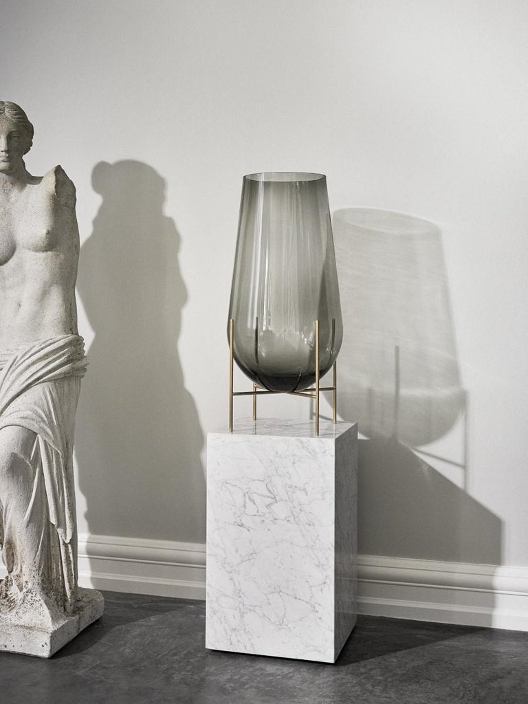 Plinth, Tall, White Marble For Sale 3