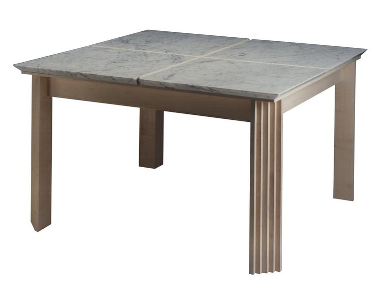 Italian Plinto Table with Marble For Sale