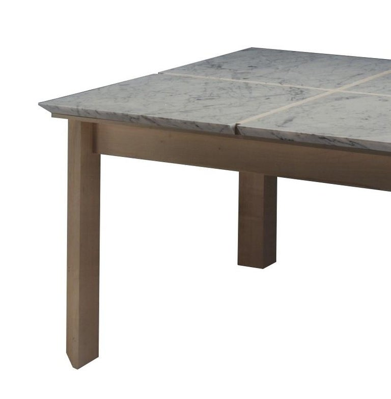 Plinto Table with Marble In New Condition For Sale In Milan, IT