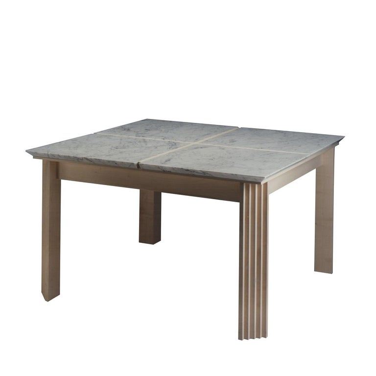 Plinto Table with Marble For Sale