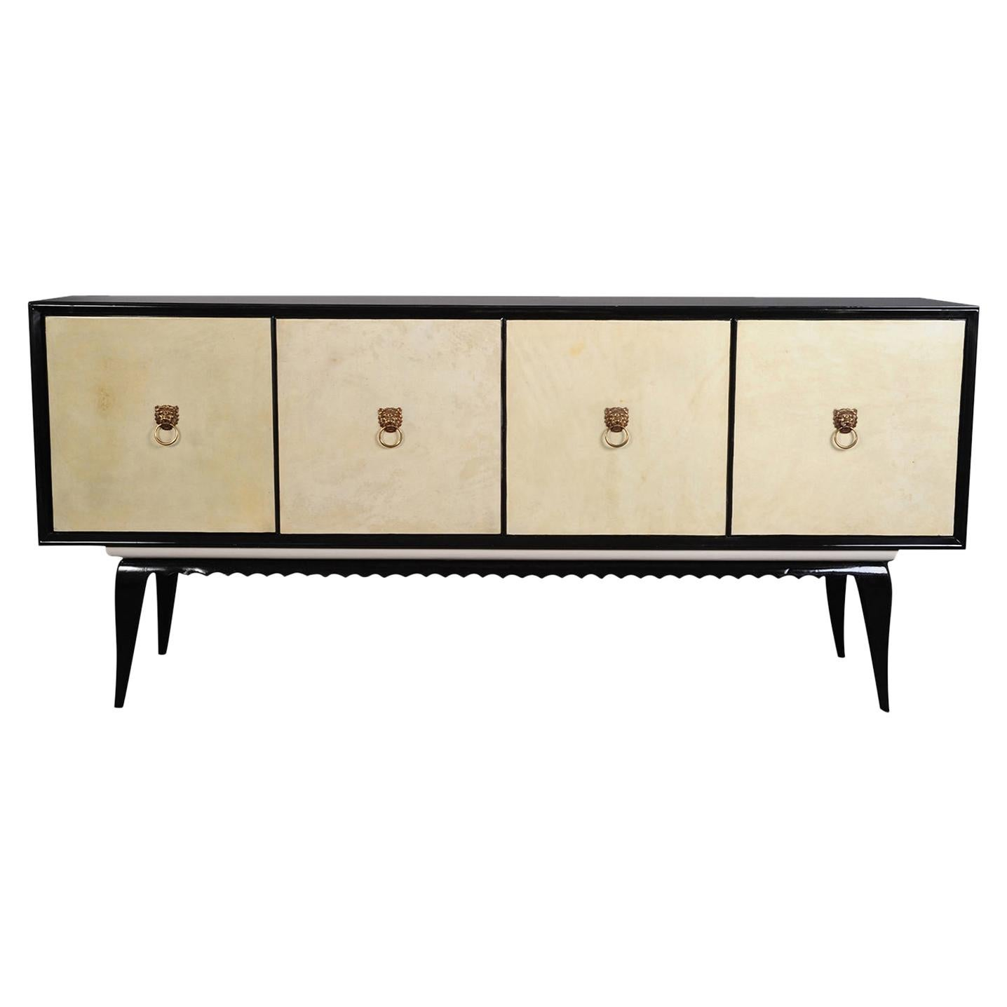 PLM-0004 Black and Ivory Parchment Sideboard