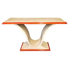 PLM-0086 Red/Ivory Parchment Console