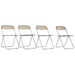 Plona Chair by Giancarlo Piretti for Castelli, 1970s Set of 4