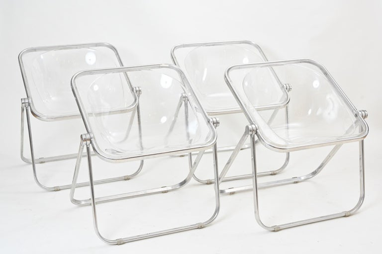 The hard to find translucent Plona chairs... four available. In very good condition