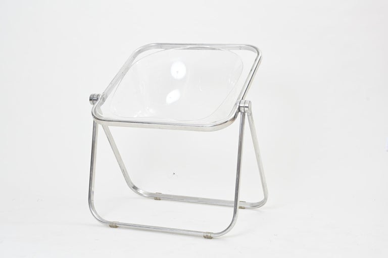 Plona Folding Chairs in Clear Lucite by Castelli, circa 1970 In Good Condition For Sale In London, GB