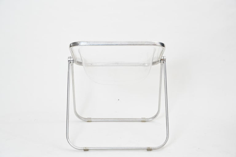 Plona Folding Chairs in Clear Lucite by Castelli, circa 1970 For Sale 1