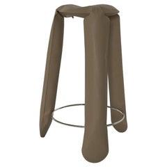 Plopp Bar Polished Beige Grey Color Carbon Steel Seating by Zieta