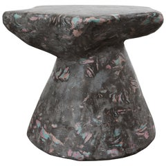 Plote Series Side Table in Scagliola