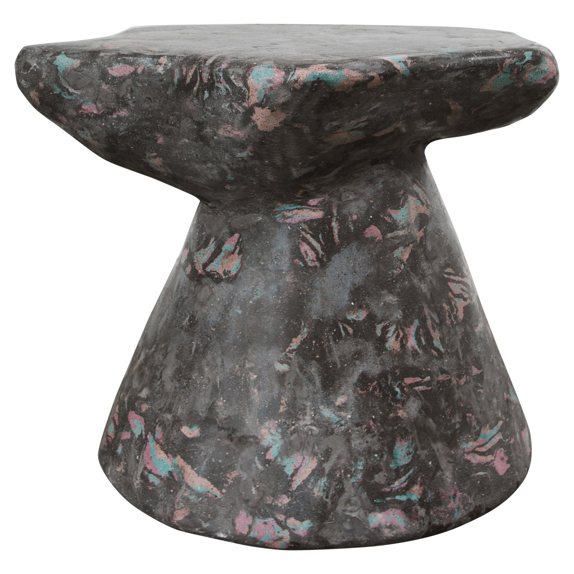 Plote Side Table in Scagliola, Cement for Indoor or Outdoor by Mtharu