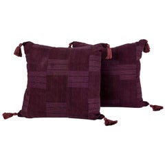 Plum Color Cushions with Tassels
