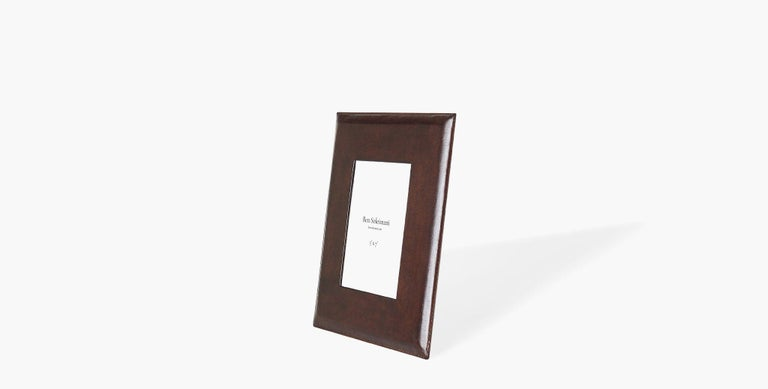 Our Pluma Leather Picture Frame is crafted in rich leather with a glass inset, providing a classic piece for your family memories. Our handcrafted fabrics, leathers, and finishes are inspired by the natural variations within fibers, textures, and