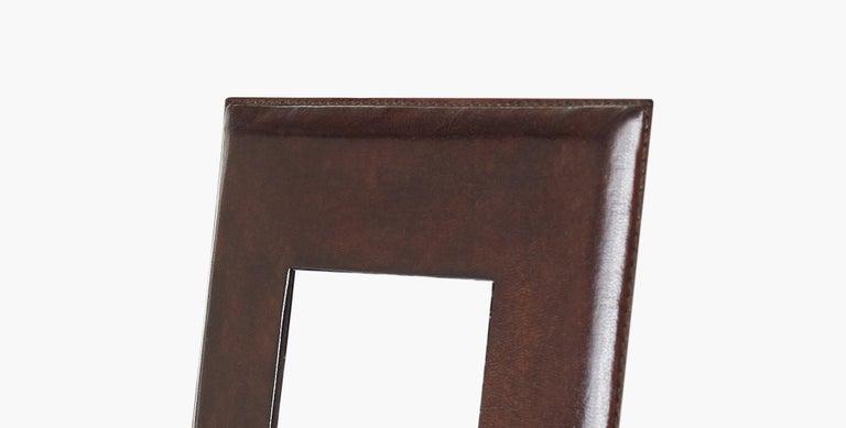 Ben Soleimani Pluma Leather Picture Frame - Chocolate 5
