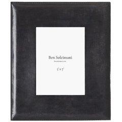 "Ben Soleimani Pluma Leather Picture Frame - Carbon 5"" x 7"""