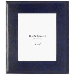 "Ben Soleimani Pluma Leather Picture Frame - Sapphire 8"" x 10"""