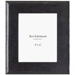 "Ben Soleimani Pluma Leather Picture Frame - Carbon 8"" x 10"""