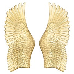 Pluma Sconce in Gold Leaf