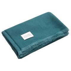 Plumma Throw, Forest Green 100% Baby Alpaca by Fells Andes