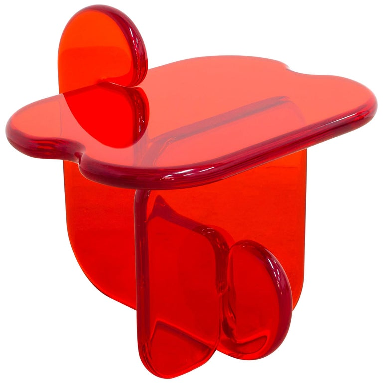 Plump Contemporary Side Table in Polyurethane Resin by Ian Cochran For Sale
