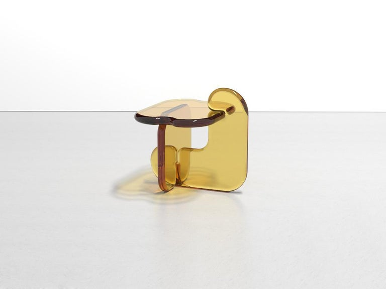 Cast Plump Resin Side Table in Pollen Yellow by Ian Alistair Cochran For Sale