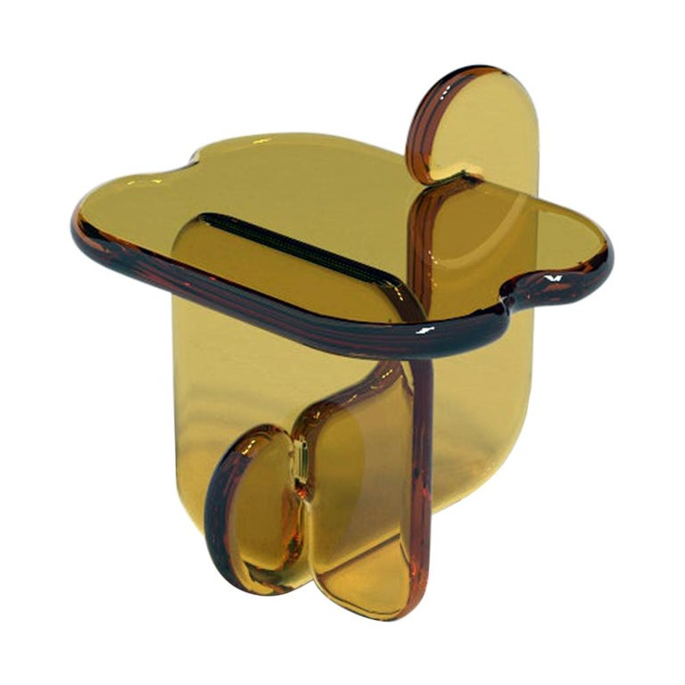 Plump Resin Side Table in Pollen Yellow by Ian Alistair Cochran For Sale