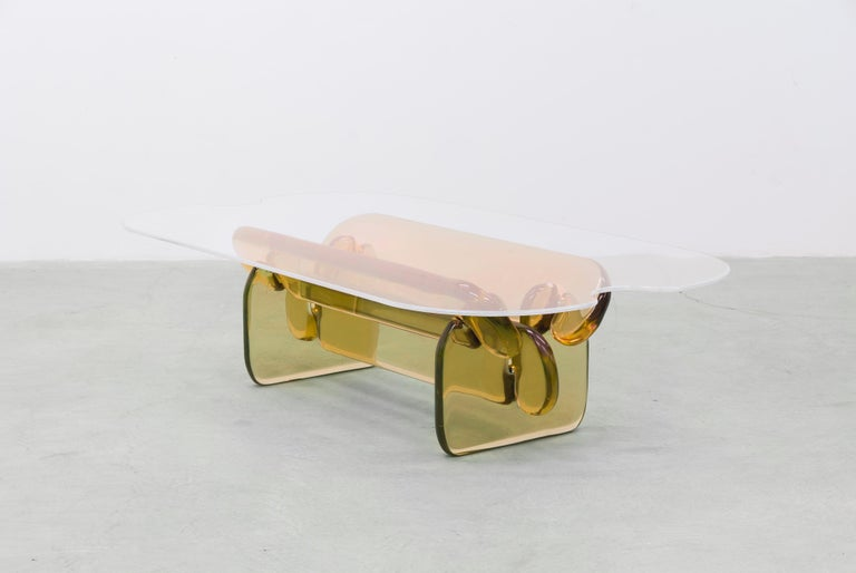 Plump resin table in Hard Candy Purple by Ian Alistair Cochran For Sale 4