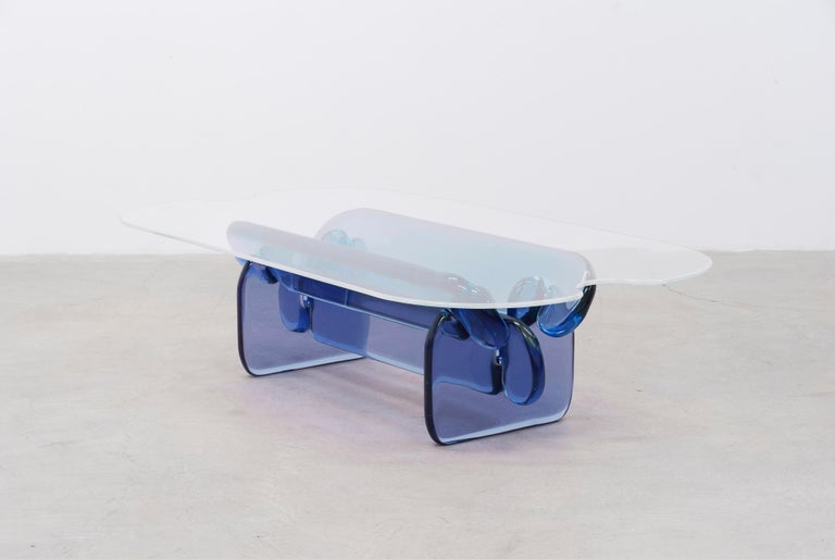 Resin Plump resin table in Hard Candy Purple by Ian Alistair Cochran For Sale
