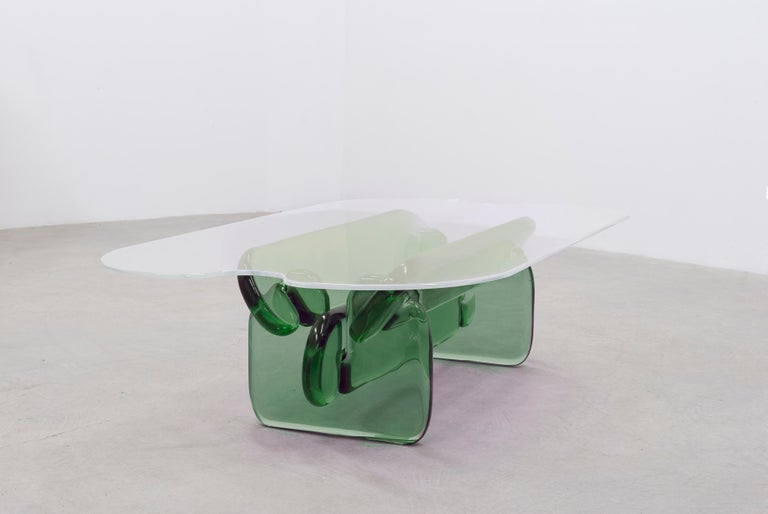 Plump resin table in Hard Candy Purple by Ian Alistair Cochran For Sale 1