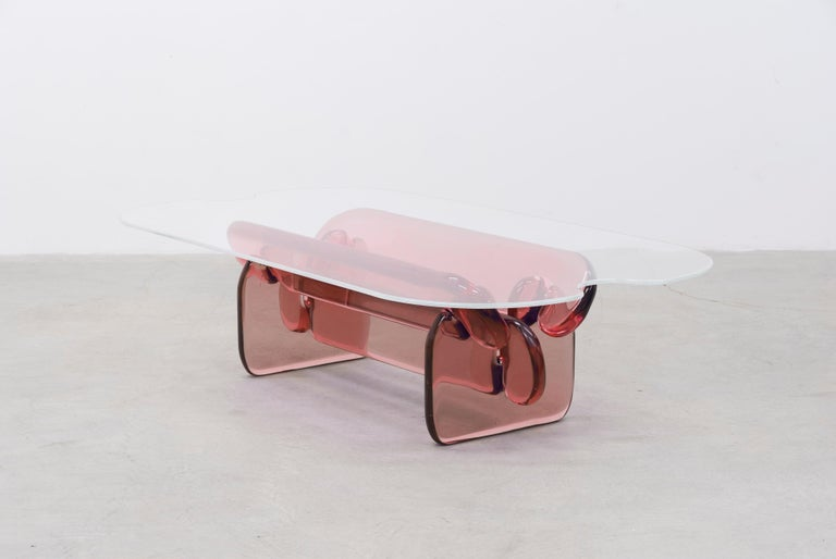 Plump resin table in Hard Candy Purple by Ian Alistair Cochran For Sale 2