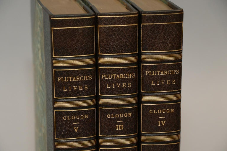 A.H. Clough  Five volumes. Octavo. Bound in three-quarter green morocco with marbled boards, top edges gilt, raised bands, and gilt panels.  Translated by John Dryden  Published: John C. Nimmo, London, 1893.