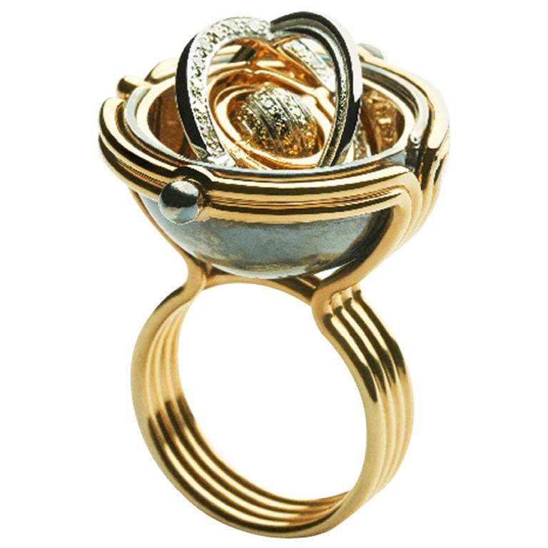 Pluton Ring Diamonds by Elie Top