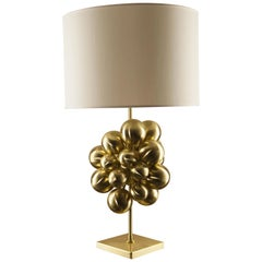 Plutone Table Lamp, Solid Brass Spheres, Florence Italy Production