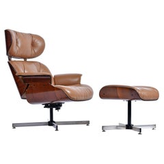 Plycraft Lounge Chair and Ottoman in Walnut
