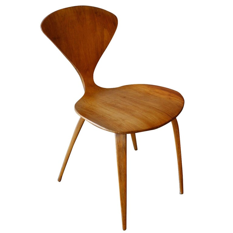 Mid-20th Century Plycraft Sculptural Dining Chairs by Norman Cherner, Set of Four For Sale