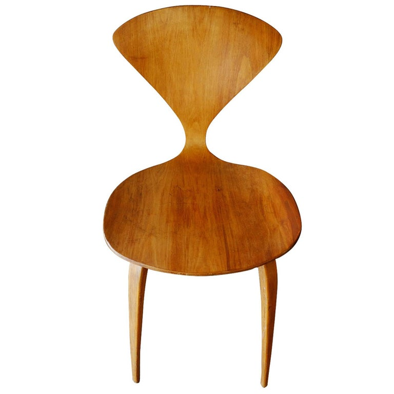 Walnut Plycraft Sculptural Dining Chairs by Norman Cherner, Set of Four For Sale