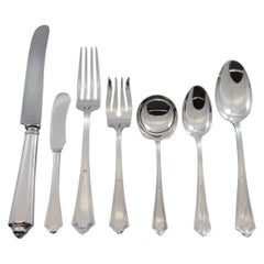 Plymouth by Gorham Sterling Silver Flatware Set 12 Dinner Service 87 Pcs Dinner