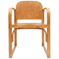 Plywood Armchair Early 20th Century by Tatra