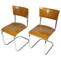 Plywood Cantilever Tubular Chairs Mart Stam, 1920s
