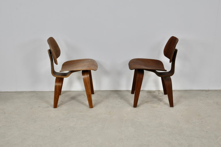 Mid-Century Modern Plywood Chair DCW by Charles Eames for Evans, 1950s For Sale