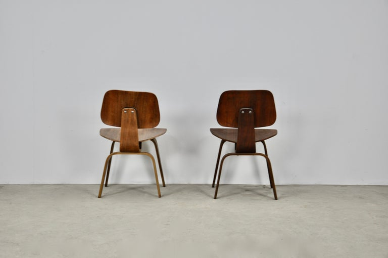 Plywood Chair DCW by Charles Eames for Evans, 1950s In Distressed Condition For Sale In Lasne, BE