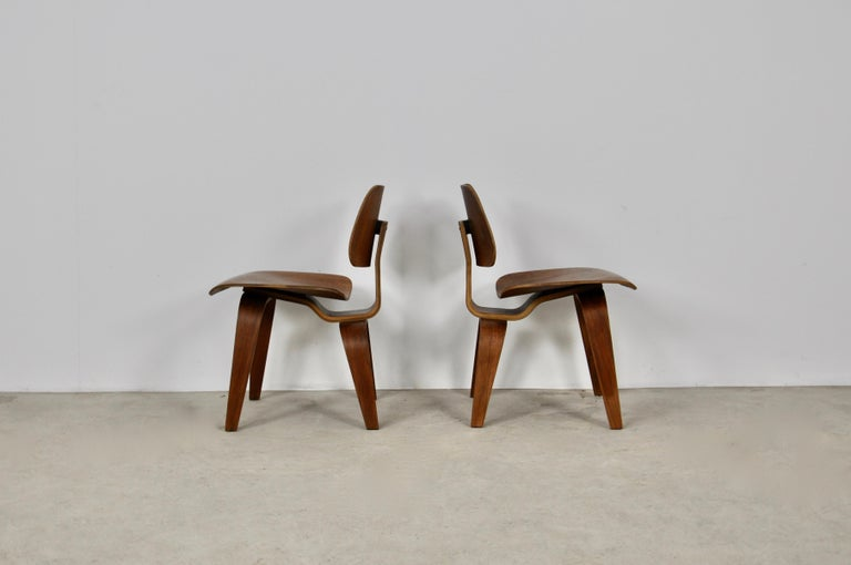 Wood Plywood Chair DCW by Charles Eames for Evans 1950s For Sale