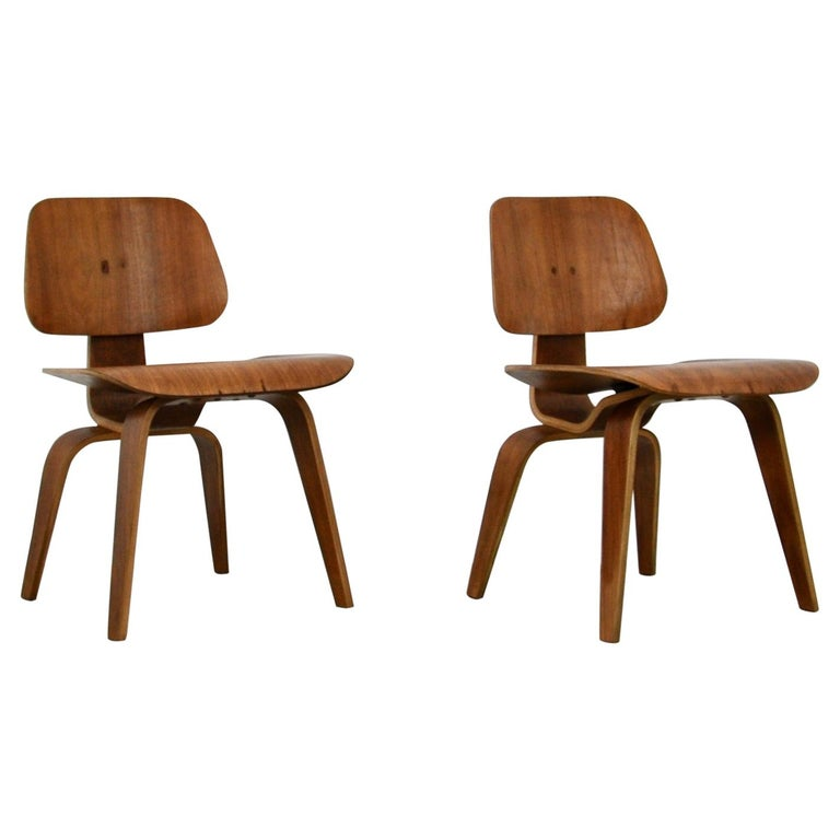 Plywood Chair DCW by Charles Eames for Evans 1950s For Sale