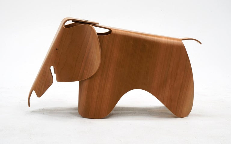 Charles and Ray Eames plywood elephant designed in 1945 and produced currently by Vitra. This is brand new with the original box which was only opened for photos.